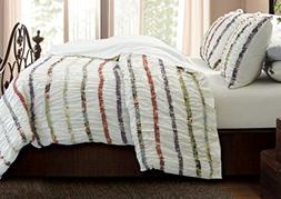 Greenland Home Fashions Bella Ruffle Duvet Cover Set