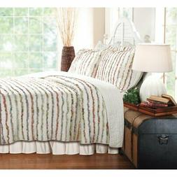 Greenland Home Fashions Bella Ruffle Quilt Set