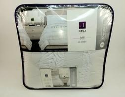Lush Decor Belle 3 Piece Ruffled Shabby Chic White Comforter