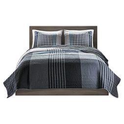 Comfort Spaces - Benjamin Mini Quilt Set - 3 Piece - Black/W