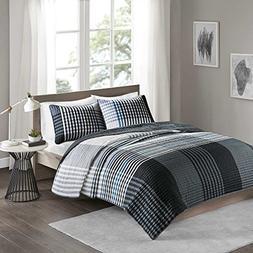 Comfort Spaces Benjamin Mini Quilt Set - 2 Piece - Black/Whi