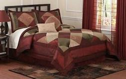 Berry Luxe 8 Piece Quilted Pieced Comforter Set