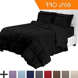 5 Piece Black Twin XL Extra Long Bedding Set By Ivy Union -