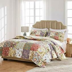 Greenland Home Blooming Prairie Cotton Patchwork Quilt Set 2