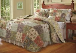 Greenland Home Blooming Prairie King Quilt Set