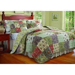 Blooming Prairie King Size 3Piece Quilt Set /Jocobean