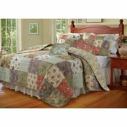Greenland Home Fashions Blooming Prairie - Quilt Set with Bo