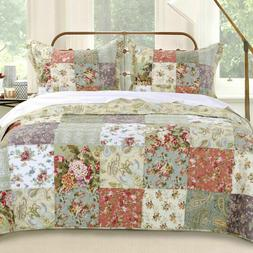 Greenland Home Blooming Prairie Reversible King Quilt Set ON