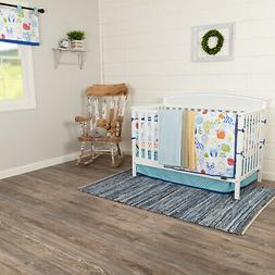 Blue Kids VHC Ink Sketch Crib Quilt Set Polyester Blend Natu