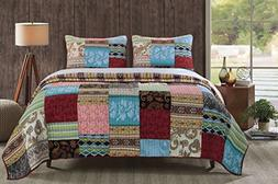 Greenland Bohemian Dream Multi Quilt Set, 3-Piece King