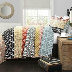 bohemian stripe quilt set