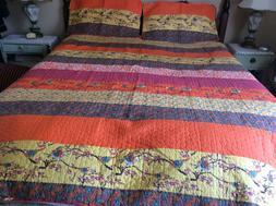 Lush Decor Boho Chic Reversible 3 Piece Quilt Bedding Set -M