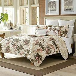TOMMY BAHAMA Bonny Cove Coral, Green Tropical Floral / Palms