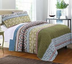 Brand New Greenland Home 3 Piece Shangri-La Quilt Set, Full/