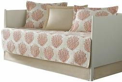 Brand New Laura Ashley 5-Piece Coral Coast Daybed Cover Set,
