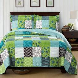 Bright Rebekah Spring Garden Style Oversized Quilt Set Wrink