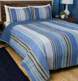 Greenland Home - Brisbane Quilt Set, 3-Piece Full/Queen Mult