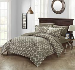 Chic Home Brooklyn 9 Piece Reversible Duvet Cover Set Geomet