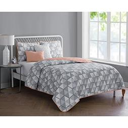 4 Piece Reversible Bedding Quilt Set