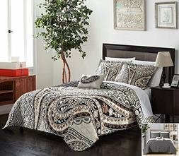 Chic Home 4 Piece Bryson Large Scale Paisley Contemporary RE