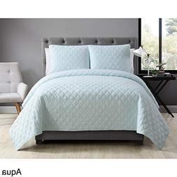 VCNY Home Buckingham Coverlet with 2 Pillow Shams Set, King,