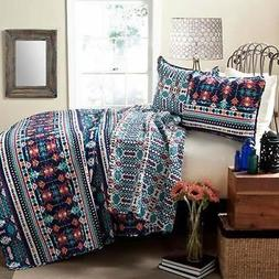 Lush Decor C21989P14-000 Navajo 3-Piece Quilt Set