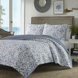 Tommy Bahama Cape Verde Quilt Set, King, Smoke