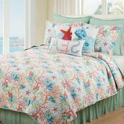 Caribbean Splash Full/Queen 3 Piece Quilt Set