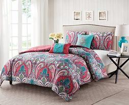 VCNY Home C10-4QT-TWIN-IN-MU 4 Piece Bohemian Paisley Revers