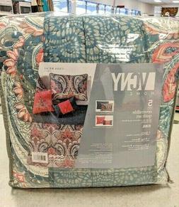 VCNY Home Casa Re'al 5 Piece Reversible Quilt Set, King, Cor