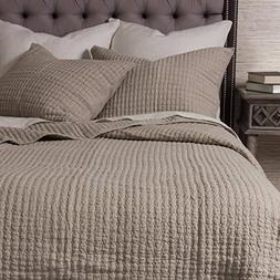 Be-You-tiful Home Cassandra Natural King Quilt Set, Queen, 2