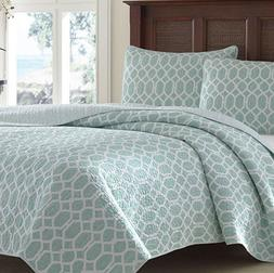 Tommy Bahama Catalina Trellis Reversible 2Pc Twin Quilt Set