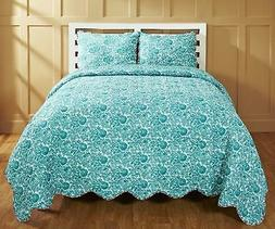 Be-you-tiful Home CC728Q Ika Jaipuri Printed Quilt Set, Quee