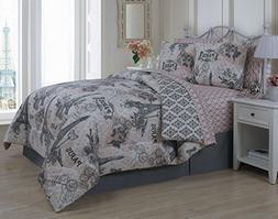 Avondale Manor Cherie 8-Piece Comforter Set, Queen, Blush