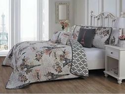 Avondale Manor Cherie 5-piece Quilt Set, Queen, Coral