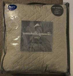 Tommy Bahama Chevron Dune Reversible 2 Piece Twin Quilt Set