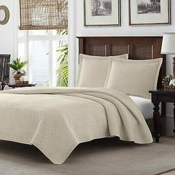 Tommy Bahama Chevron Quilt Set, King, Dune