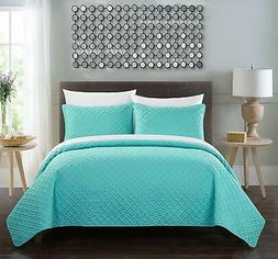 Chic Home Amandla 3 Piece Cover Set Rose Star Geometric Quil