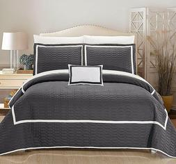 Chic Home Brandyn Two-Tone Quilt w/ Sheet 8-Piece Set -