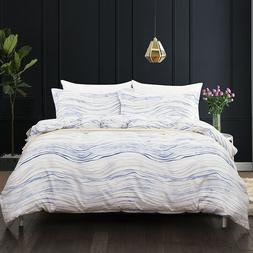 Clearance Striped Duvet Cover Sets Queen King Size Bedding S