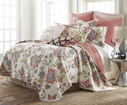 Clementine Spring Full/Queen Quilt Set, Red White Multi, Cot