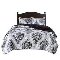 Comfort Spaces - Coco Mini Quilt Set - 2 Piece - Black and W