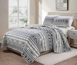 Colby 3-Piece Western Geometric Tribal Washed Microfiber Bed