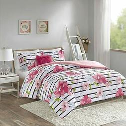 Comfort Spaces Zoe Comforter Set Printed Striped Floral Desi