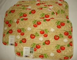 Cooks Kitchen Tomato Garlic Pasta Kitchen Home Decor Quilted