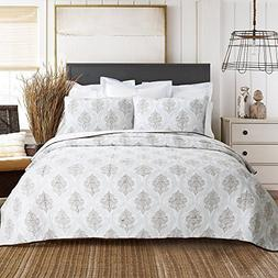 Cozy Line Home Fashions 100% COTTON Baroque Embroidered Meda