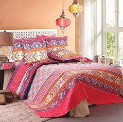 Exclusivo Mezcla 100% Cotton 5-Piece Multicolored Boho King