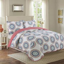 vivinna Cotton Quilt queen/double size Sets -3pcs include 2