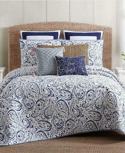 Oceanfront Resort Cotton Quilt Set, King, Indienne Paisley