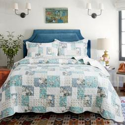 Country Chic Printed Full Patchwork Pattern Printed Quilt Be